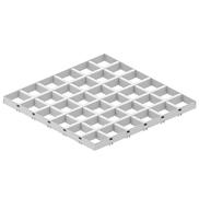 Потолок Грильято GL-15 100х100 белый Албес