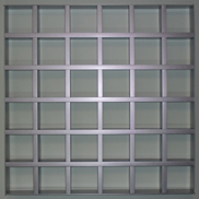 Потолок Грильято GL-15 100х100 металлик Албес