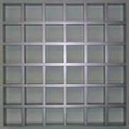 Потолок Грильято GL-15 120х120 металлик Албес