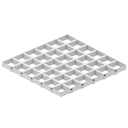 Потолок Грильято GL-15 150х150 белый Албес