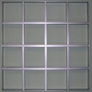Потолок Грильято GL-15 150х150 металлик Албес