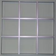 Потолок Грильято GL-15 200х200 металлик Албес