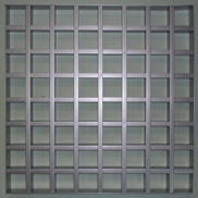 Потолок Грильято GL-15 75х75 металлик Албес