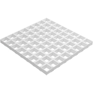 Потолок Грильято GL-15 86х86 белый Албес