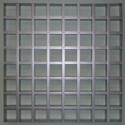 Потолок Грильято GL-15 86х86 металлик Албес