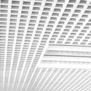 Потолок Грильято GL-24 100х100 белый Албес