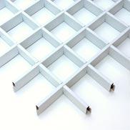 Потолок Грильято стандартный 100х100 белый Албес