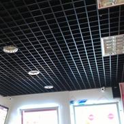 Потолок Грильято стандартный 100х100 черный Албес