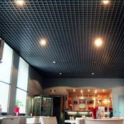 Потолок Грильято стандартный 120х120 черный Албес