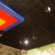 Потолок Грильято стандартный 200х200 черный Албес