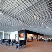 Потолок Грильято стандартный 200х200 металлик Албес