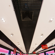 Потолок Грильято стандартный 60х60 черный Албес