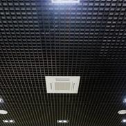 Потолок Грильято стандартный 75х75 черный Албес