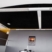 Потолок Грильято стандартный 86х86 черный Албес