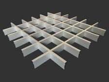 монтаж потолка грильято сборка решеток