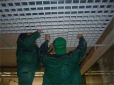 монтаж потолка грильято установка решеток