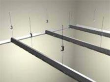 монтаж кассетного потолка установка гребенки-стрингера BT-600
