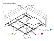 Кассетные потолки открытого типа