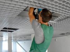 Монтаж подвесных потолков грильято